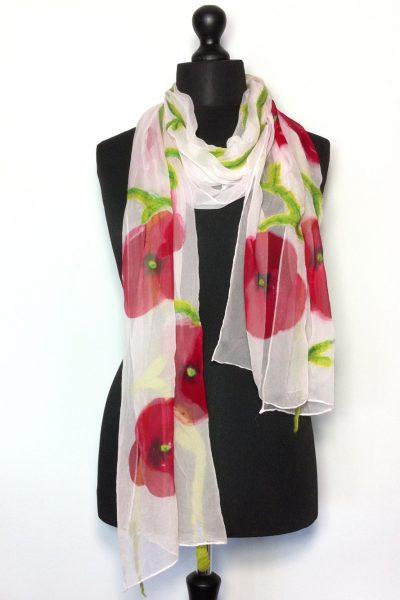 Chiffon silk flower shawl London